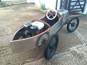 The finished Cyclekart