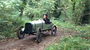 The cyclekart being used